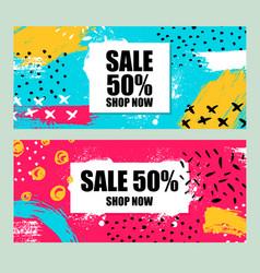 Set sale banners design vector