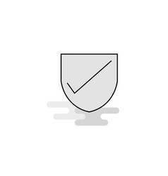 Sheild web icon flat line filled gray icon vector