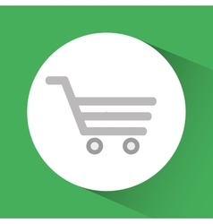 Shopping cart online store market icon vector