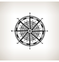 Silhouette compass rose on a light background vector