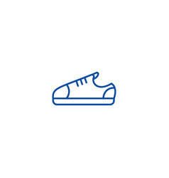 sneaker shoes line icon concept sneaker shoes vector image