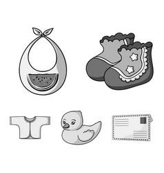 socks bib toy duck raspashonkababy born set vector image