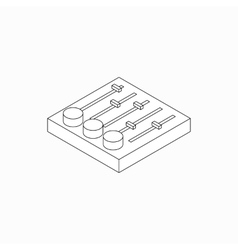 Sound mixer console icon isometric 3d style vector image