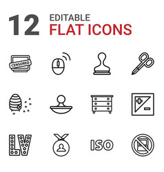 Stamp icons vector