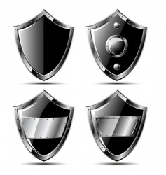 Steel shields vector