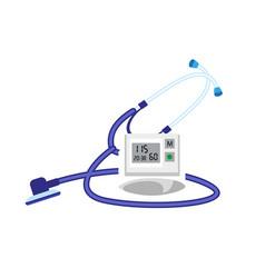 Stethoscope blood presure device icon flat style vector