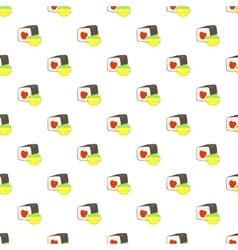 Sushi pattern cartoon style vector image