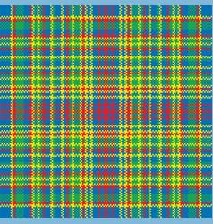 tartan plaid pattern seamless print fabric vector image