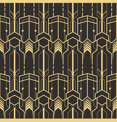 template abstract art deco vector image vector image