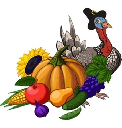 Thanksgiving still life vector