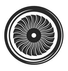 turbine black icon electricity symbol and vector image