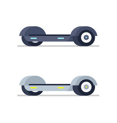 two electric hoverboard vector image