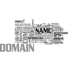 Who s the best domain registrar text word cloud vector