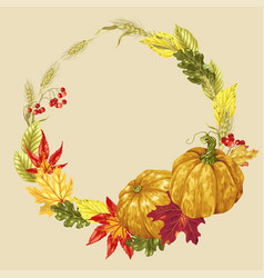 wreath decor element for harvest season vector image