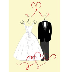 Clothing for weddings vector image vector image