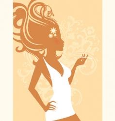 elegant women vector image vector image