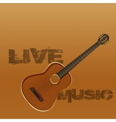 live music guitar vector image vector image