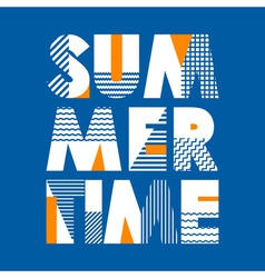 Summer Time T-shirt Typography vector image
