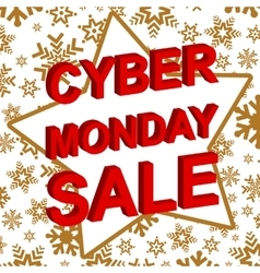 Winter sale poster with cyber monday sale text vector
