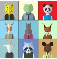Animal Avatar Icon Set vector image