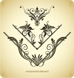 borders or frame elements vector image vector image