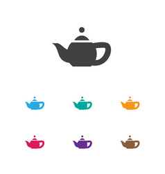 of cook symbol on teapot icon vector image