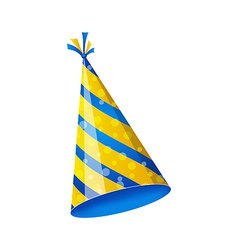 Birthday hat isolated on white background vector image