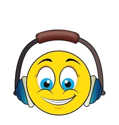 happy face with headset vector image