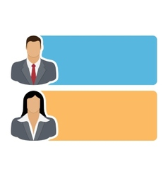 People icons with colorful dialog speech vector