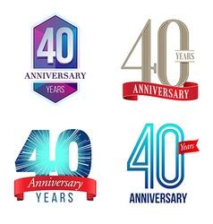 40 Years Anniversary Symbol vector image