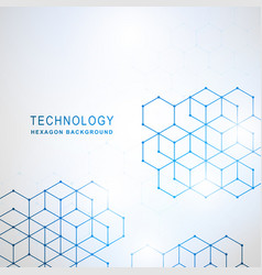 abstract technology hexagon background vector image vector image
