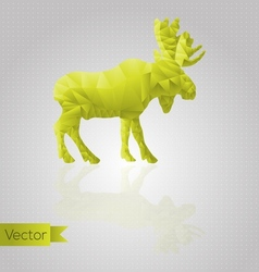 Abstract triangular moose vector image vector image