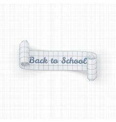 Back to school paper festive ribbon vector