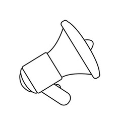 bullhorn isolated object vector image vector image
