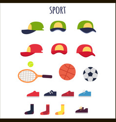 Sport clothes and equipments collection vector