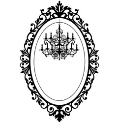 vintage frame with chandelier vector image vector image