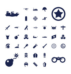 37 military icons vector