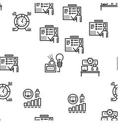 About me presentation seamless pattern vector