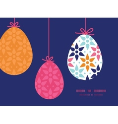 Abstract colorful stars hanging Easter eggs vector