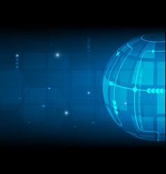 abstract global circle digital technology vector image