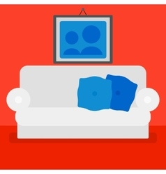 Background of living room vector