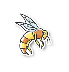 bee patch vector image