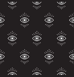 black and white hipster abstract eye pattern vector image