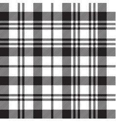 black watch tartan check plaid seamless pattern vector image