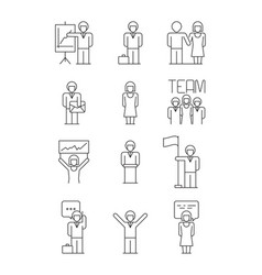 business people icon team office managers vector image