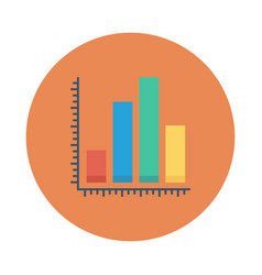 Chart statistics analytics business graph vector