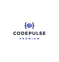 code pulse logo icon vector image