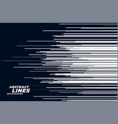 Comic horizontal speed lines background vector