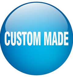 custom made blue round gel isolated push button vector image