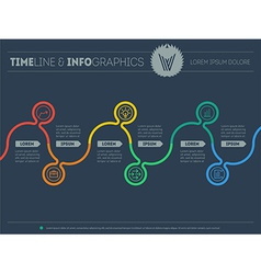 Diagram of tendencies and trends Infographic vector image